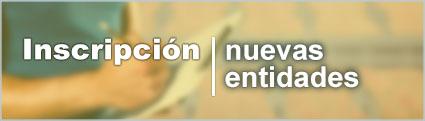 Registro inscripción nuevas entidades