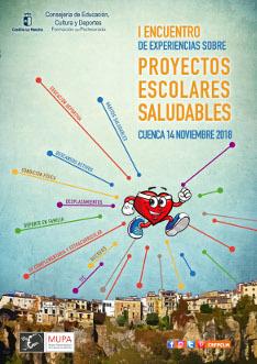 cartel I Encuentro experiencias proyectos escolares saludables