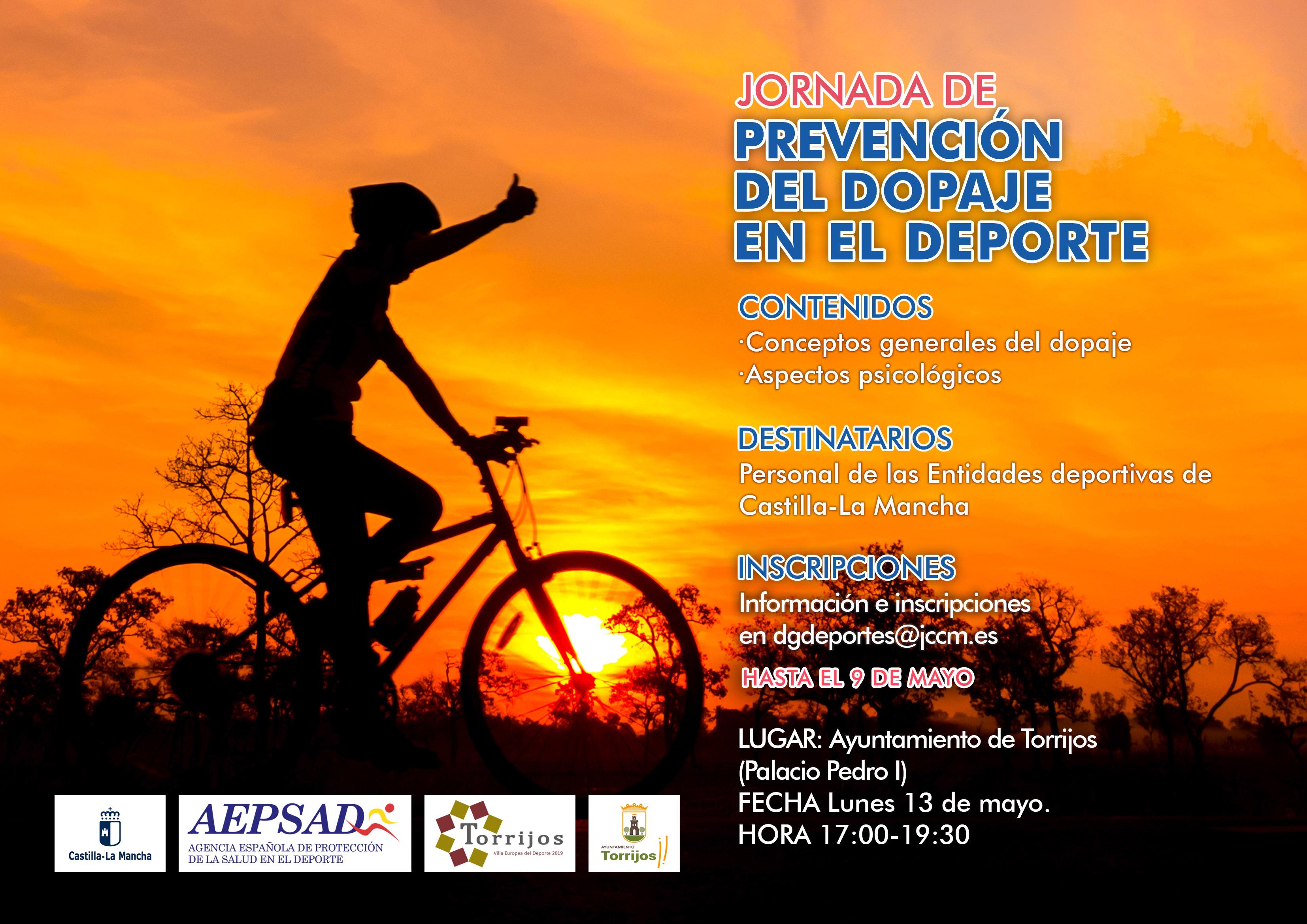 cartel Jornada de prevención del dopaje en el deporte