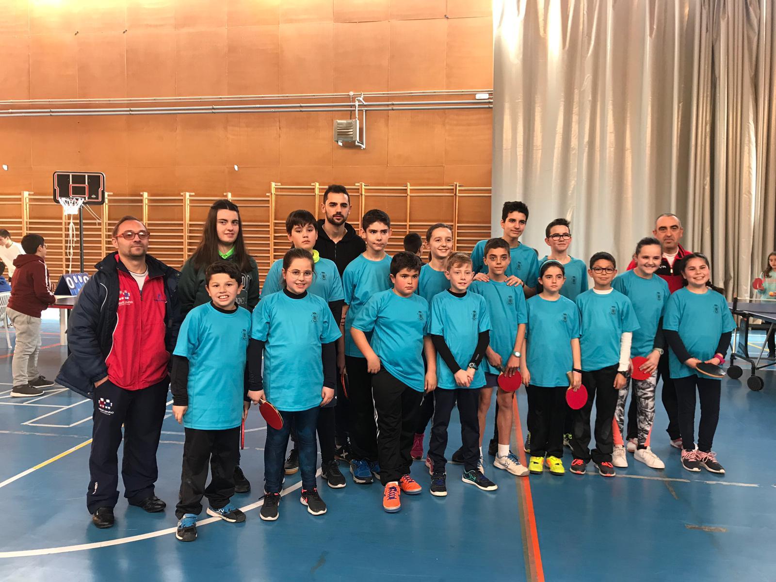Tenis de Mesa. Fase comarcal San Clemente. Cuenca 2019.