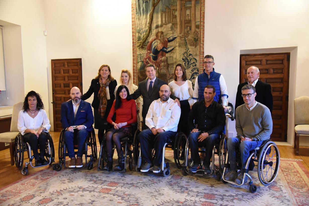 Visita del equipo de rugby en silla de ruedas 'Carpetanos Quad Rugby' de Toledo