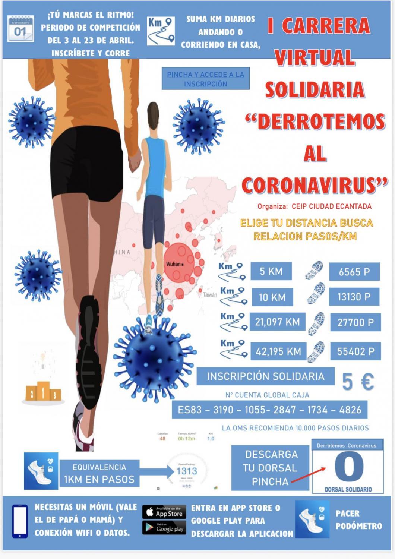 "Carrera virtual ""Derrotemos al coronavirus"""