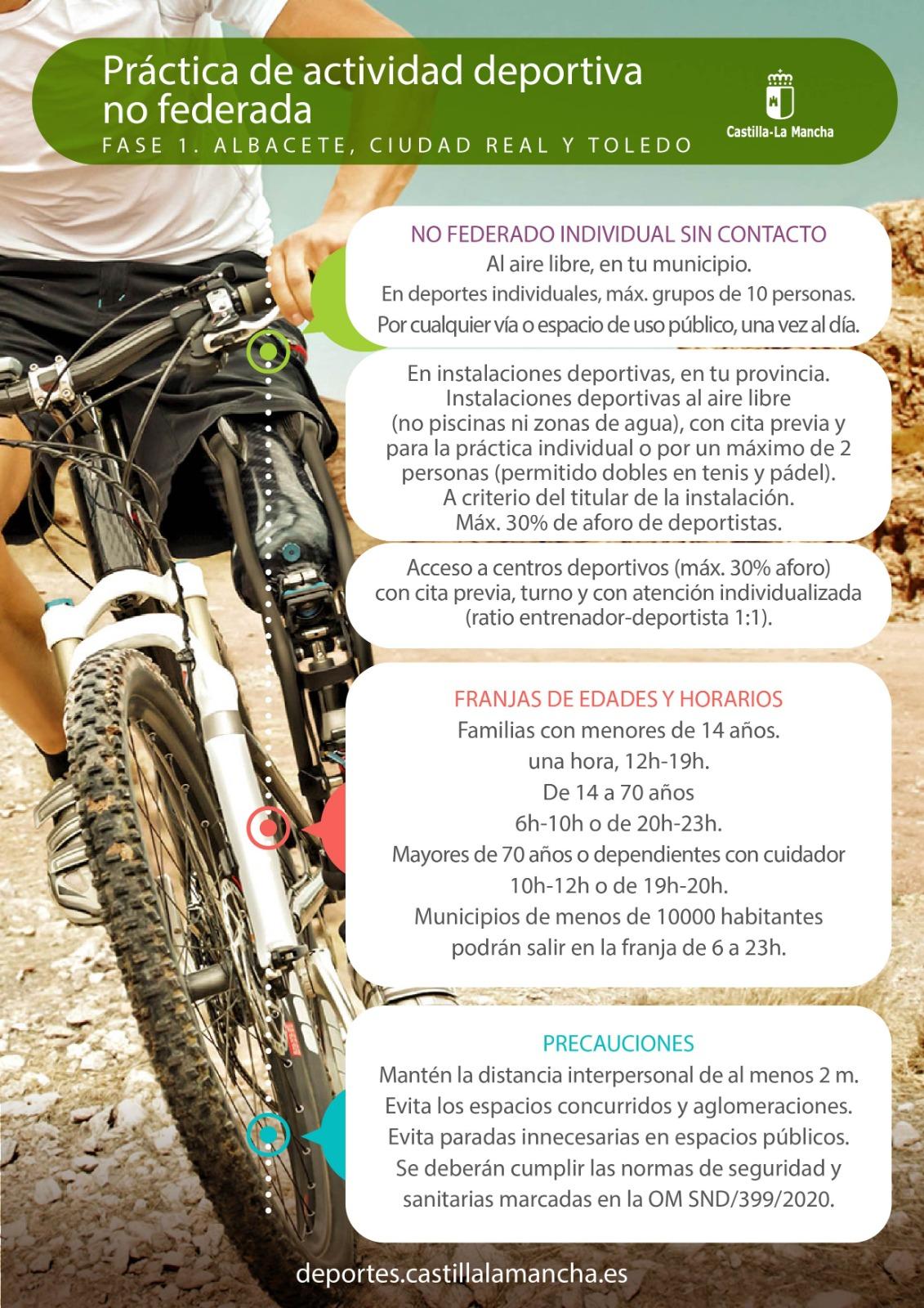 Práctica deportiva Fase 1 NO federada (act. 27/05/2020)