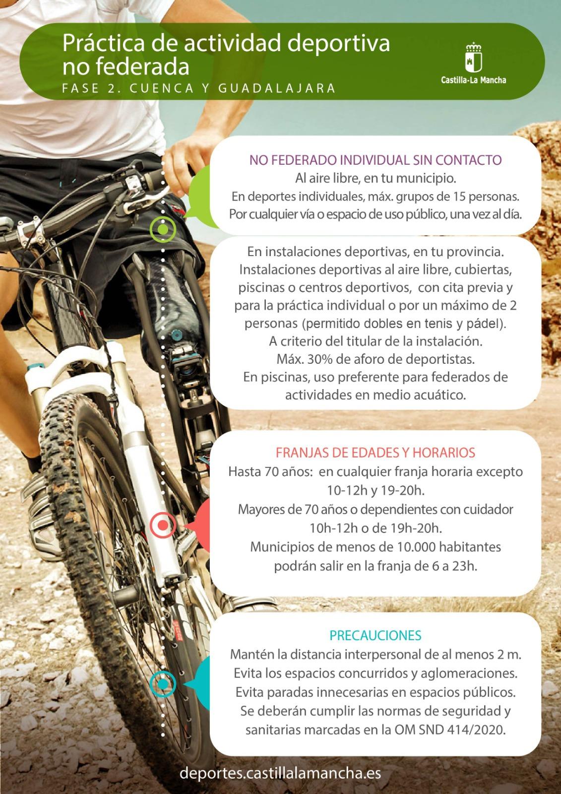 Fase 2 - Cuenca y Guadalajara - Deporte no federado (27/05/2020)