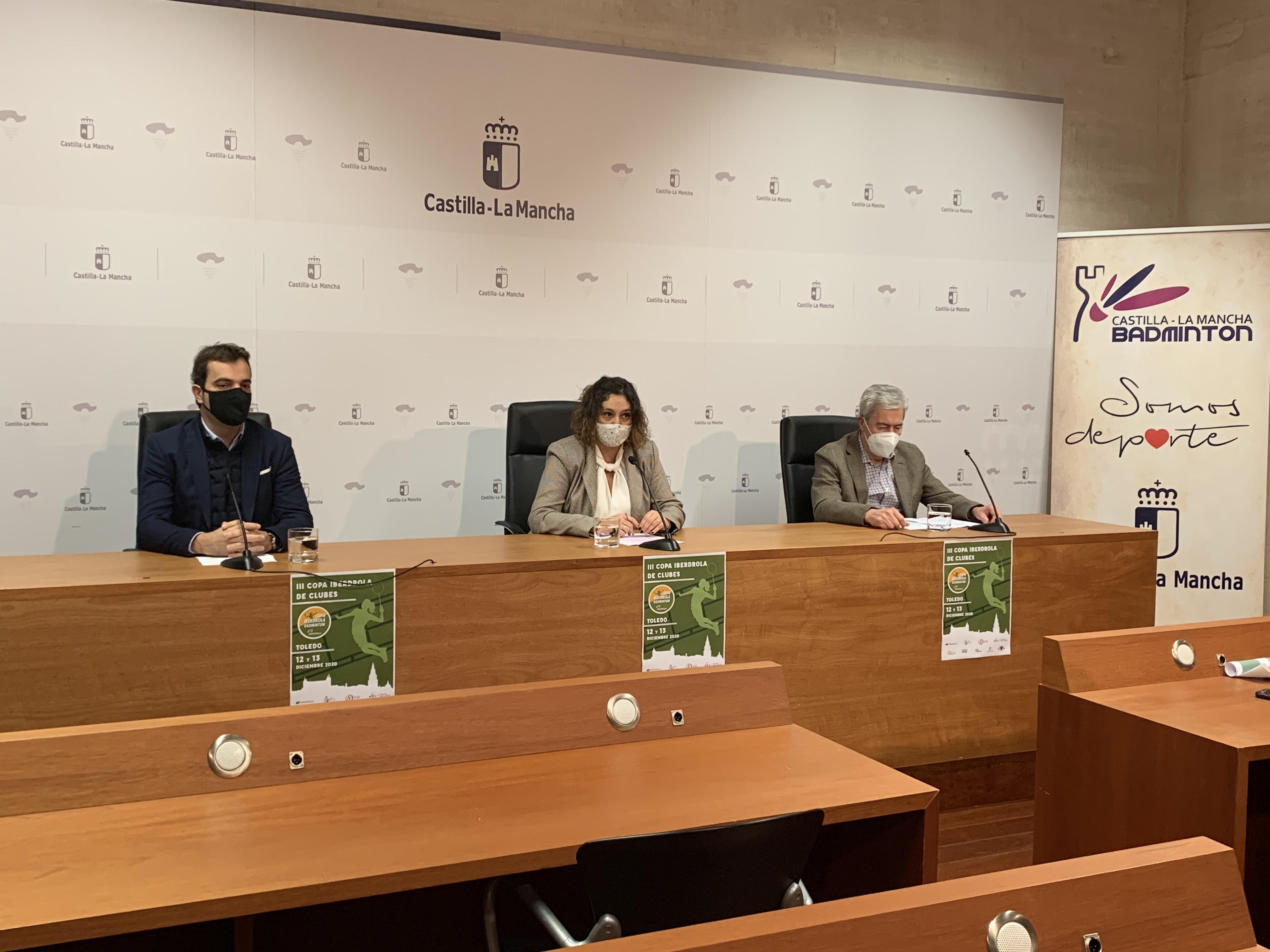 Presentación de la Copa Iberdrola, por parte de la JCCM, Ayto. de Toledo y Federación Regional de Bádminton