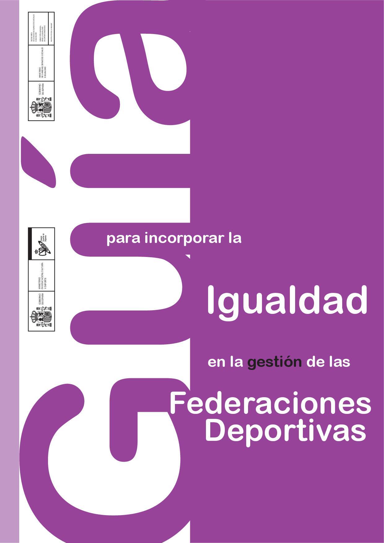 Guía para implantar la igualdad en la gestión de las federaciones deportivas
