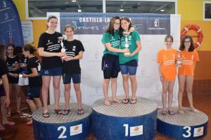Podio natación alevín femenino