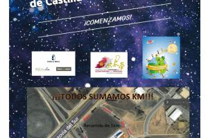 Cartel todos sumamos km (CEIP Divina Pastora / Manzanares - Ciudad Real)