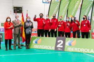 Entrega de trofeos de la III Copa Iberdrola de Bádminton