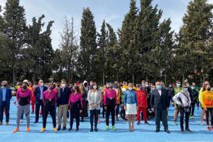 Autoridades en el Cto. de España de Atletismo Promesas Paralímpicas