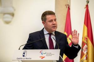 El presidente Page en la recepción a los deportistas paralímpicos castellano-manchegos