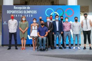 Recepción del presidente Page a olímpicos y paralímpicos en Tokio