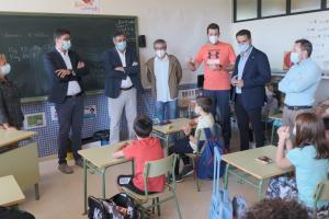 El viceconsejero de Educación en un aula de Miguelturra