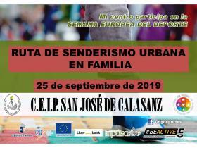 CEIP San José de Calasanz. Tomelloso. Ruta de senderismo urbano en familia. SED'19
