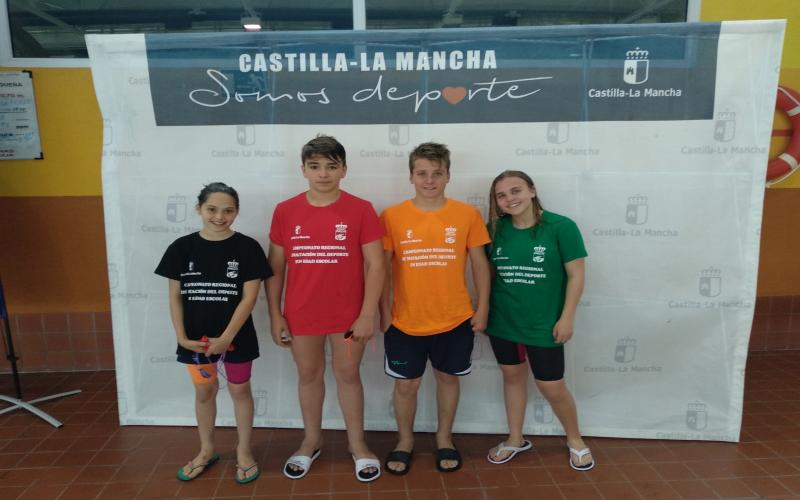 Campeonato Regional Natación alevín en edad escolar