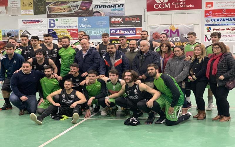 Juan Ramón Amores en el partido de Primera División Autonómica entre los equipos de Mora y de La Roda