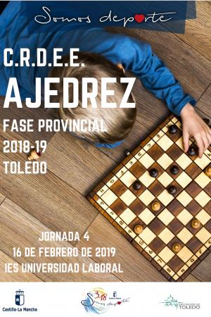 C.R.D.E.E. Ajedrez Fase Provincial Toledo 2018-19 - Jornada 4