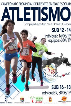 Cartel Campeonato Provincial de Atletismo Cuenca. 2019.