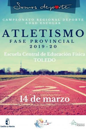 Cartel Fase Provincial de Atletismo de Toledo - Infantil por equipos