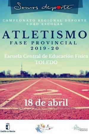 Cartel Fase Provincial de Atletismo de Toledo - Alevín