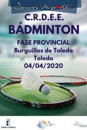 Cartel Fase Provincial de Bádminton - 5ª Jornada