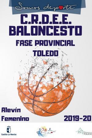 Cartel Fase Provincial de Baloncesto - Alevín Femenino
