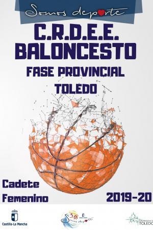 Cartel Fase Provincial de Baloncesto - Cadete Femenino