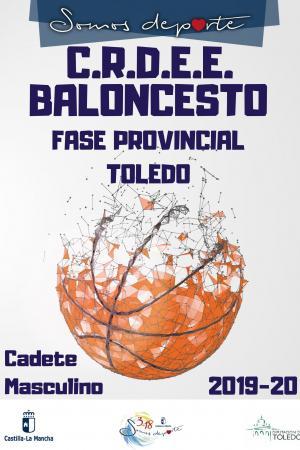Cartel Fase Provincial de Baloncesto - Cadete Masculino