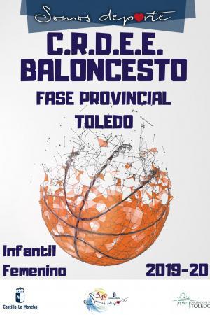 Cartel Fase Provincial de Baloncesto - Infantil Femenino