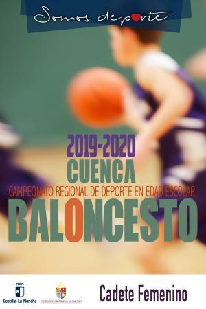 Cartel Fase Provincial de Baloncesto Cuenca - Cadete Femenino