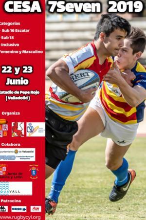 cartel Campeonato de España de Rugby en edad escolar