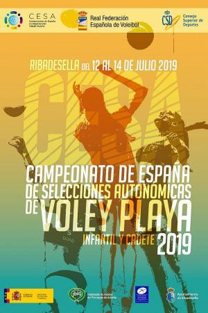cartel Campeonato de España de vóley playa en edad escolar