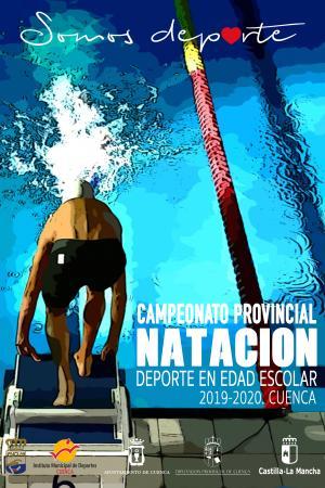 Cartel Fase Provincial Natación. Cuenca