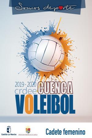 Cartel Fase Provincial de Voleibol Cuenca - Cadete Femenino