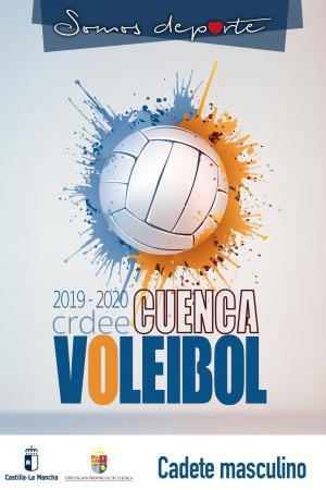 Cartel Fase Provincial de Voleibol Cuenca - Cadete Masculino