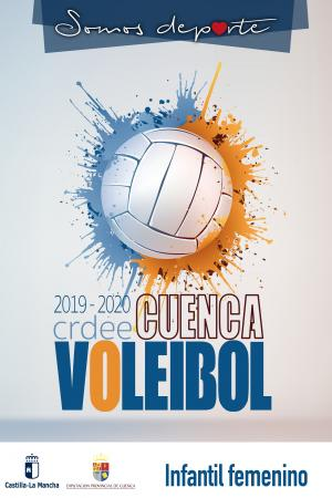 Cartel Fase Provincial de Voleibol Cuenca - Infantil Femenino