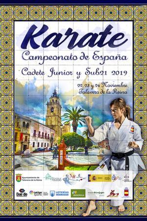cartel Campeonato de España de kárate cadete, junior y sub-21