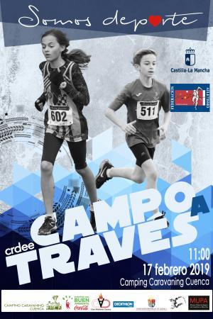 Cartel Campeonato Regional de Campo a Través. Cuenca 2019.