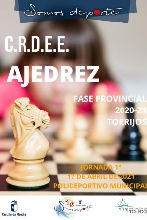 Cartel Fase Provincial de Ajedrez - 1ª Jornada - Infantil y Cadete
