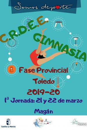 Cartel Fase Provincial de Gimnasia Ritmica Toledo / Magán - 1ª Jornada