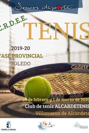 Cartel Fase Provincial de Tenis - Cadete