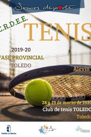 Cartel Fase Provincial de Tenis - Alevín