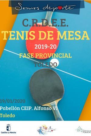 Cartel Fase Provincial de Tenis de mesa - 1ª Jornada