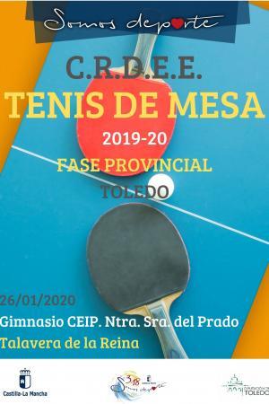 Cartel Fase Provincial de Tenis de mesa - 2ª Jornada