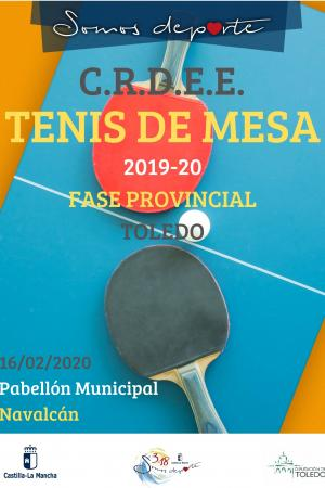 Cartel Fase Provincial de Tenis de mesa - 3ª Jornada