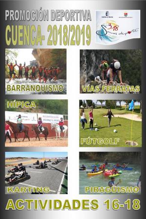 Cartel Actividades 16-18 Cuenca. Curso 2018 - 2019.
