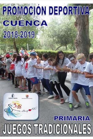 Cartel Juegos y Deportes Tradicionales Cuenca. Curso 2018 - 2019.
