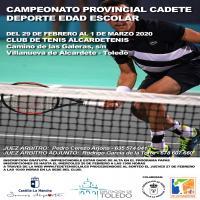 Cartel Federación de Tenis Fase Provincial de Toledo