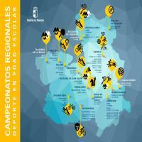 mapa campeonatos regionales deporte en edad escolar