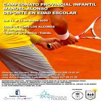 Cartel Fase Provincial de Tenis Toledo - Infantil